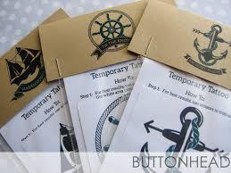 nautical wedding favors nautical wedding favors temporary tattoos buttonhead