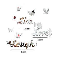 aliexpress com buy 10 piece butterfly wall decor live love laugh