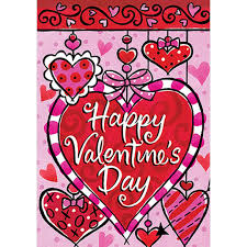 Valentine S Day Flags Valentine U0027s Day Heart Shaped Garden Flag Double Sided House Flag