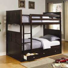 kids full low loft bed with desk dresser and bookcase home in bunk