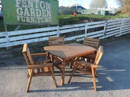 patio table with 4 chairs heavy duty delux wooden garden patio furniture set 4 6 table 4