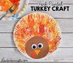fork painted turkey craft for i arts n crafts