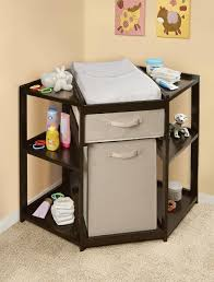 Basket Changing Table Espresso Corner Changing Table With Her Basket Baby Center