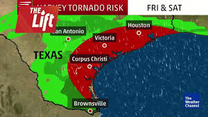 Tornado Map Hurricane Harvey Brings Tornado Risk To Texas The Weather Channel