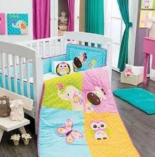 Girls Crib Bedding New Elephant Giraffe Butterfly Owl Pink Yellow Baby Crib Bedding