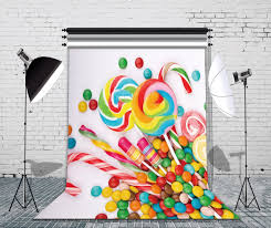 halloween background or backdrop decoration amazon amazon com lb 5x7ft candy vinyl photography backdrop customized