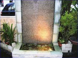 build outdoor water wall feature home design ideas
