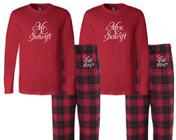 mr and mrs pajamas etsy