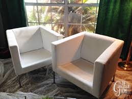 Club Chairs For Living Room Diy Ikea Hack Cream And Black Club Chairs The Gathered Home
