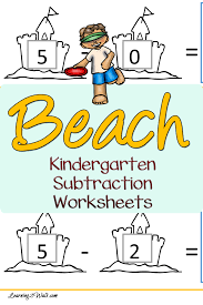 cut and paste ice cream kindergarten subtraction worksheets