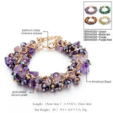gemstone charm bracelet images Chicvie charm bracelets bangles with stones gold color bracelet jpg