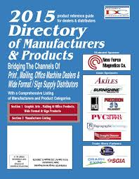 2015 directory of manufacturers u0026 products by fichera publications