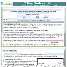 sle eviction notice maine maine notice to quit