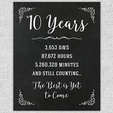 10th year wedding anniversary 10th anniversary gift 10th year wedding anniversary 10th