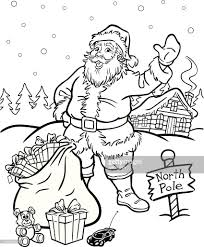 coloring book santa claus vector art getty images