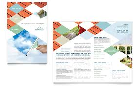 window cleaning u0026 pressure washing brochure template word