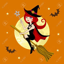 halloween witch full moon night royalty free cliparts vectors