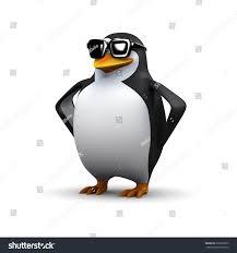3d render penguin sunglasses stock illustration 229529953
