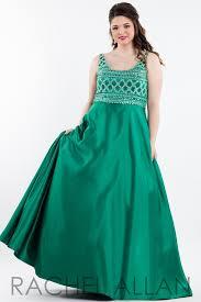 rachel allan plus 7845 emerald beaded satin prom dress u2013 rsvp