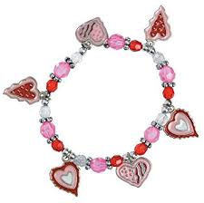 pink heart bracelet images 12 valentine heart charm bracelet kits craft girl 39 s jpg