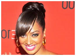 bun hairstyles for black women buns bangs medium hair styles