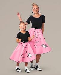 Clock Halloween Costume Mother U0026 Daughter Fab U002750s Poodle Skirt Costumes Halloween
