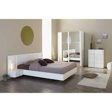 meuble chambre blanc laqué rangement à 4 tiroirs pour chambre adulte coloris blanc laqué