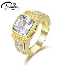 aliexpress buy anniversary 18k white gold filled 4 fashion jewelry white blue rings cz ip yellow gold