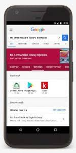 google directs users to library ebooks from overdrive