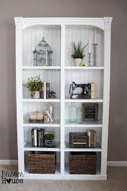 How To Decorate A Bookcase Restyling A Bookcase Less Is More Bless U0027er House