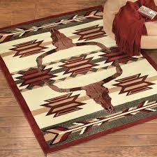 longhorn home decor southwest rugs desert arrow longhorn rug lone star western decor