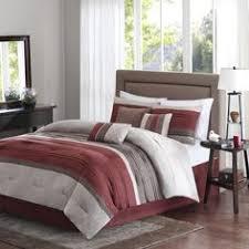 Madison Park Hanover 7 Piece Comforter Set Rust Color Comforter Sets Images Of Microsuede Comforter Set