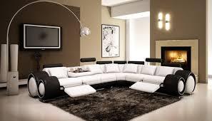 Black Recliner Sofa Set Black Leather Sofa Loveseat White Modern Sofa Black Leather
