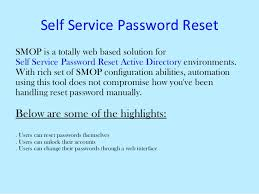 reset microsoft online services password self manage web based automate password reset
