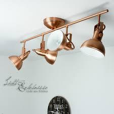 Wohnzimmerlampe Kupfer Loft Spot Inkl 3w Led In Kupfer Strahler Deckenstrahler Lampe