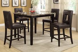 Counter Height Dining Room Furniture by Rex Ford Dark Brown Marble Top Counter Height Dining Table Set