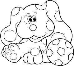 blues clues coloring pages coloringpagesabc within blues clues