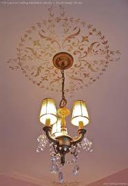 Chandelier Stencils 12 Diy Ideas To Paint A Decorative Focal Point With Medallion