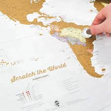 Personalised World Map Pinboard by Amazon Com Scratch The World Scratch Off Places You Travel
