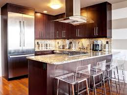 One Wall Kitchen Kitchens With An Island Kitchen With Dark Cabinets An Island And