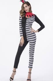 jumpsuit costume black checkered clown jumpsuit costume
