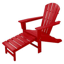 Adirondack Bench Polywood Palm Coast Adirondack Chair With Pull Out Ottoman Target
