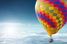 flight in an air balloon in sicily