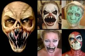 mum u0027s creepy face painting featuring ghouls ghosts and zombies