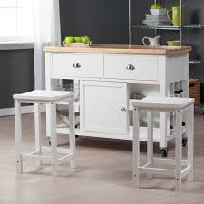 White Kitchen Island With Stools by Furniture White Kitchen Island With Stools Be Equipped With White