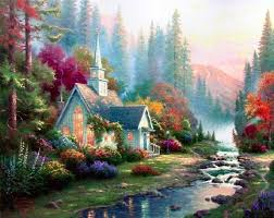 thomas kinkade forest chapel painting for thomas kinkade forest chapel is handmade art reion you can thomas kinkade forest chapel