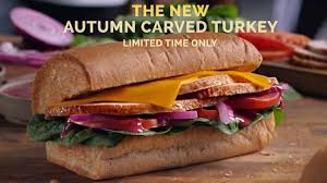 subway unveils new autumn carved turkey sandwich with cranberry