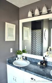 Frame A Bathroom Mirror With Molding Mirror Molding Kit How To Frame Out That Builder Basic Bathroom