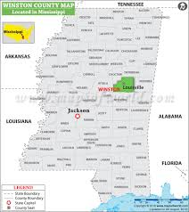 Mississippi Map Usa by Winston County Map Mississippi