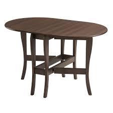 mood furniture heatproof oval gateleg gate leg drop leaf table in